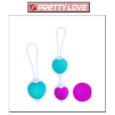 Pretty Love Bolas Chinas Kegel con Pesas en Corazón